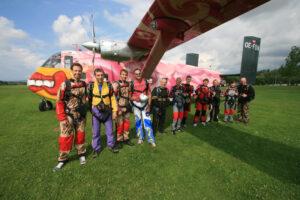 Gruppenevent Tandemsprung Klatovy 24 Fallschirmspringen