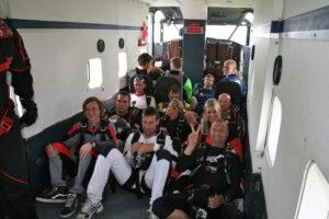 Gruppenevent Tandemsprung Klatovy 26 Fallschirmspringen