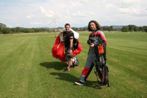 Gruppenevent Tandemsprung Klatovy 28 Fallschirmspringen