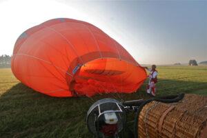 Tandemsprung aus einem Heißluftballon in Fromberg 2