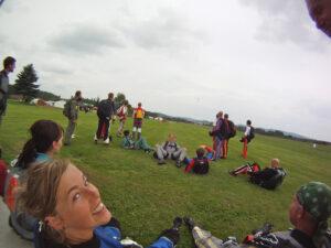 Gruppenevent Fallschirmspringen Klatovy Tandemsprung 2
