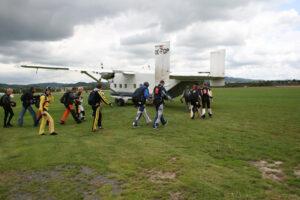 Gruppenevent Fallschirmspringen Klatovy Tandemsprung 5