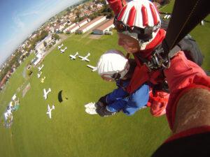 Tandemsprung Kempten Durach Allgäu Fallschirmspringen