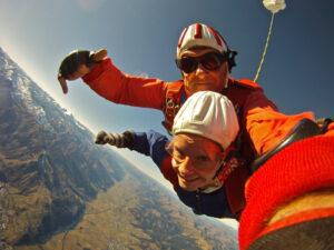 Tandemsprung Zell am See Fallschirmspringen Österreich 2